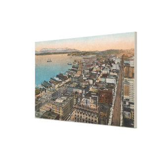 Seattle, WAAerial of Downtown Seattle & Bay Canvas Print