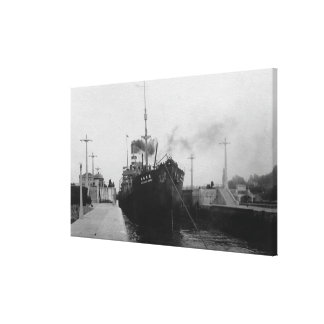 Seattle, WABallard Locks Ship Canal Photograph 2 Stretched Canvas Print