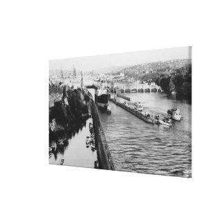 Seattle, WABallard Locks Ship Canal Photograph Canvas Print