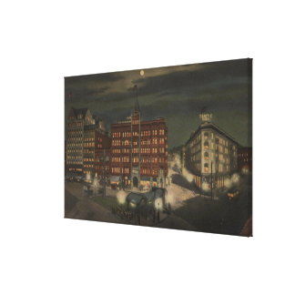 Seattle, WAPioneer Square at Night Canvas Print