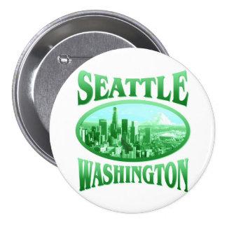 Seattle Washington 7.5 Cm Round Badge
