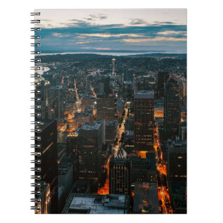 Seattle Washington Aerial View Notebooks