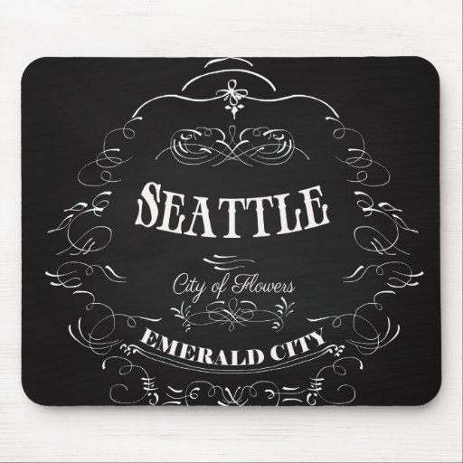 Seattle Washington - City of Flowers Mouse Pads