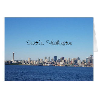 Seattle Washington City View From the Water Card