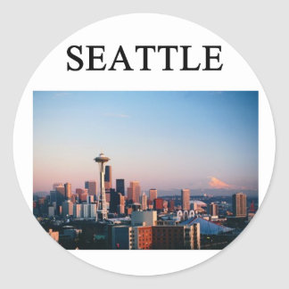 SEATTLE washington Classic Round Sticker
