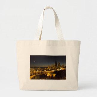 Seattle Washington Downtown Skyline at Sunset Bags