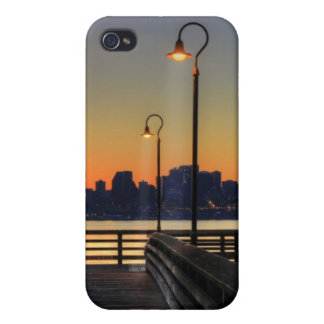 Seattle Washington Downtown Skyline Cover For iPhone 4