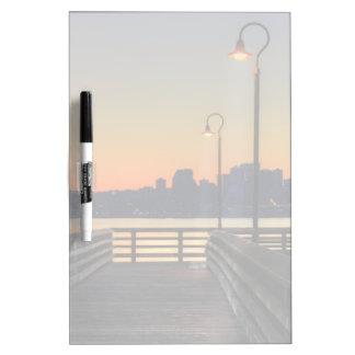 Seattle Washington Downtown Skyline Dry Erase Board