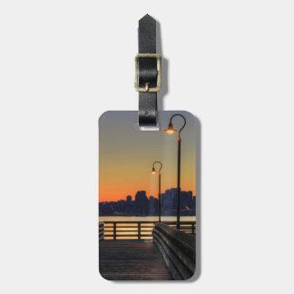 Seattle Washington Downtown Skyline Luggage Tag