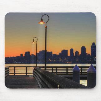Seattle Washington Downtown Skyline Mousepads