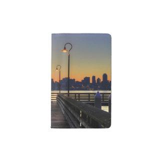 Seattle Washington Downtown Skyline Pocket Moleskine Notebook