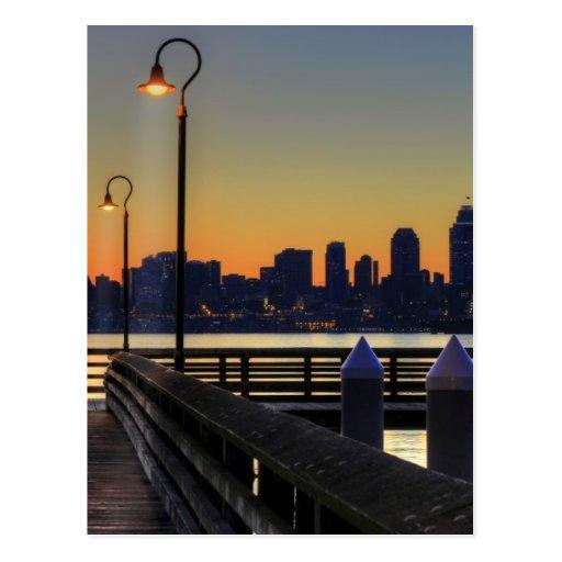 Seattle Washington Downtown Skyline Postcards