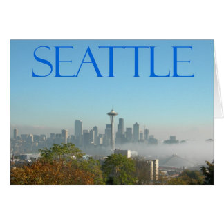 Seattle Washington Downtown Skyline View Cards