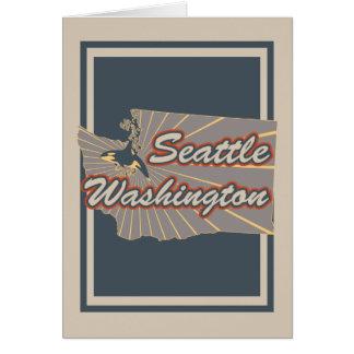 Seattle, Washington Greeting Card  Travel Print v2