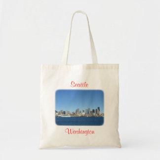 Seattle Washington  Harbor Skyline Budget Totebag