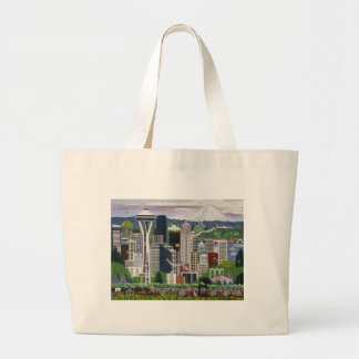 Seattle Washington Large Tote Bag