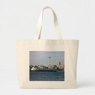 Seattle Washington Large Tote Bag