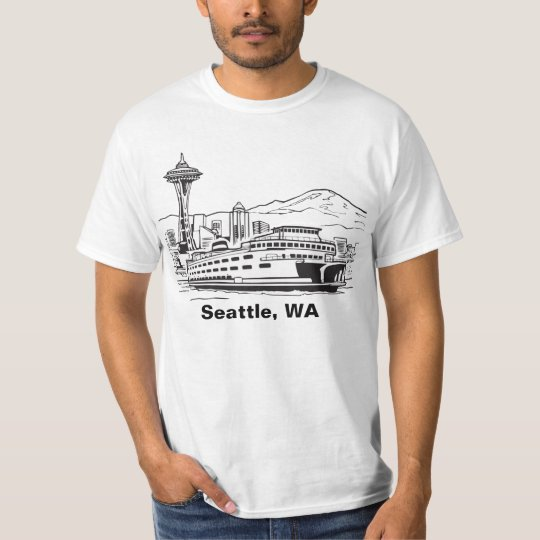 Seattle Washington Line Art  T-shirt