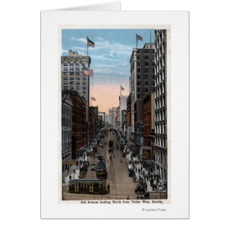 Seattle, Washington - North View of 2nd Card