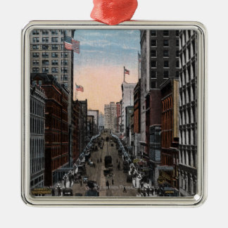 Seattle, Washington - North View of 2nd Christmas Ornament