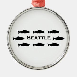 Seattle Washington Salmon Logo Christmas Ornament