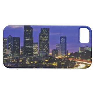 Seattle, Washington skyline at night Barely There iPhone 5 Case