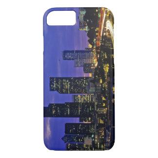 Seattle, Washington skyline at night iPhone 7 Case