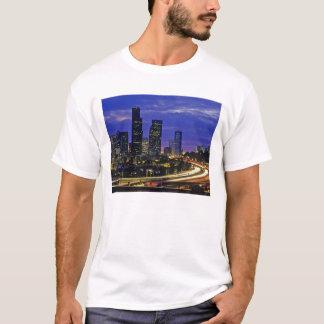 Seattle, Washington skyline at night T-Shirt