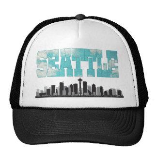 Seattle Washington Skyline Cap