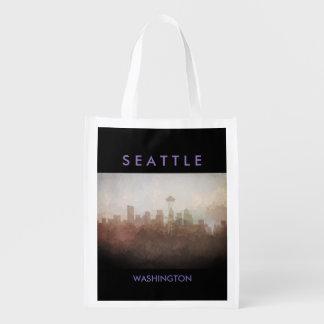 Seattle, Washington Skyline IN CLOUDS