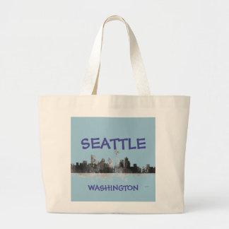 SEATTLE WASHINGTON SKYLINE -Jumbo Tote Bag