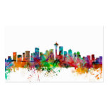 Seattle Washington Skyline Pack Of Standard Business Cards