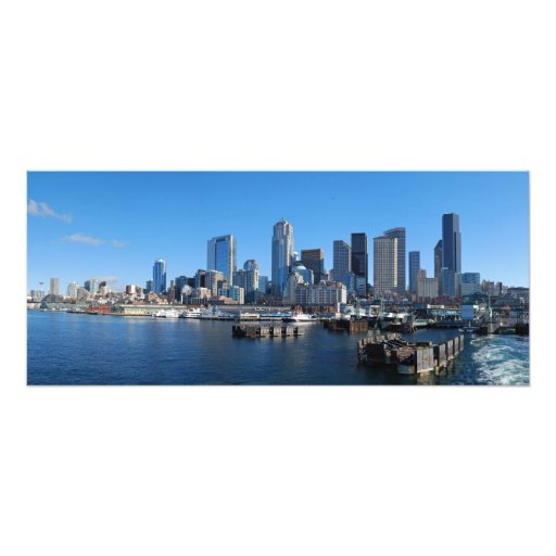 Seattle, Washington Skyline Panorama Photo Print