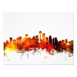 Seattle Washington Skyline Photographic Print