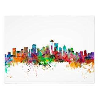 Seattle Washington Skyline Art Photo