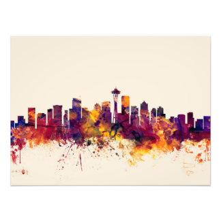 Seattle Washington Skyline Photograph