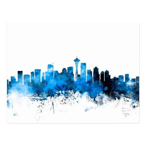 Seattle Washington Skyline Post Card