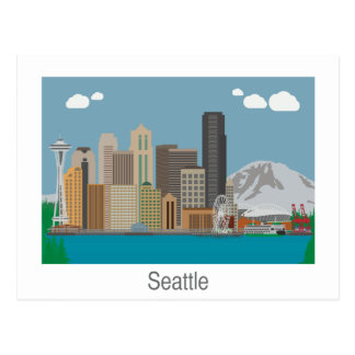 Seattle, Washington Skyline Postcard