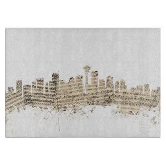 Seattle Washington Skyline Sheet Music Cityscape Cutting Board