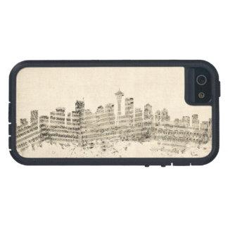 Seattle Washington Skyline Sheet Music Cityscape iPhone 5 Case