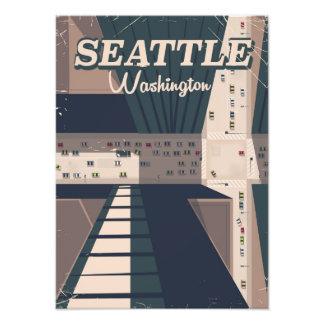 Seattle, Washington state Travel poster Photograph