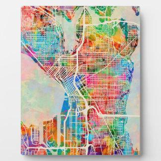Seattle Washington Street City Map Photo Plaques
