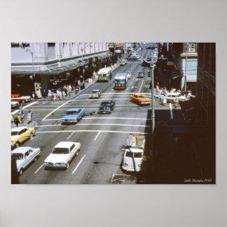 Seattle Washington Traffic Poster
