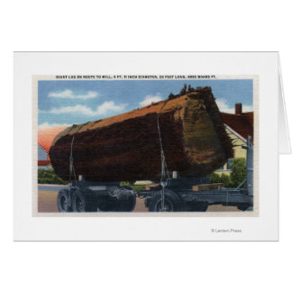 Seattle, WashingtonGiant Log en route to Mill Greeting Card