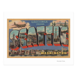Seattle, WashingtonLarge Letter Scenes 3 Postcard