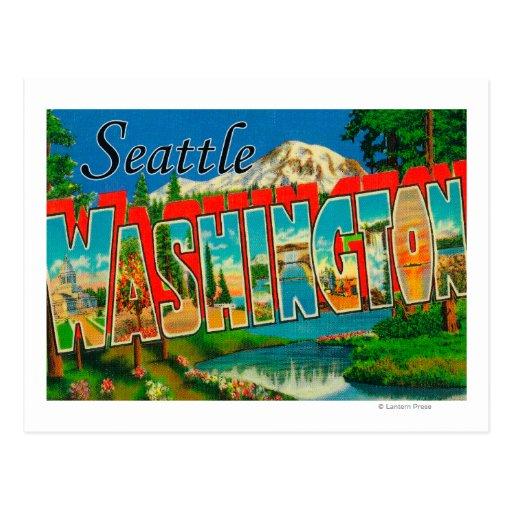 Seattle, WashingtonLarge Letter Scenes Postcard
