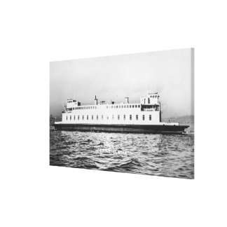Seattle, WashingtonView of the Elwha Ferry Canvas Print