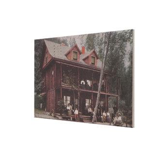 Seattle, WASummer Home at Alki Point Beach Canvas Print