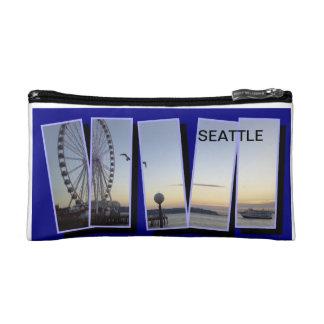 SEATTLE WATER FRONT MINI ZIP BAG MAKEUP BAGS