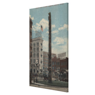 Seattle, WATotem Pole at Pioneer Square Canvas Print